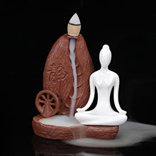 Load image into Gallery viewer, Ceramic Yoga Girl Burner - 1Pc Burner + 30 Pcs cones