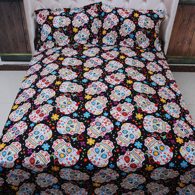 Many Skulls Bed Set