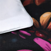 Load image into Gallery viewer, Flowery Skull Bedding Set by Sunima