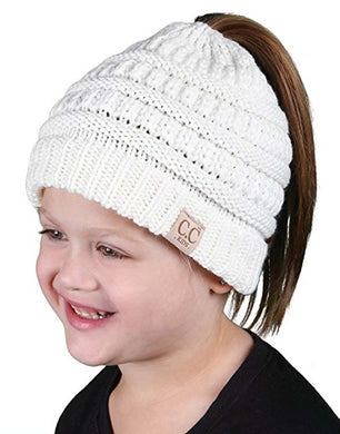 Children Ponytail Beanie - 3 to 8 years