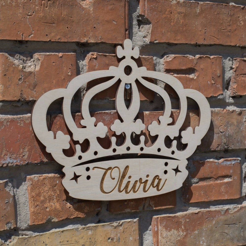 Personalised Timber Princess Crown