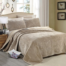 Load image into Gallery viewer, Bedspread Set 3pcs Palm Leaves