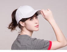 Load image into Gallery viewer, Solid Cotton Ponytail Cap
