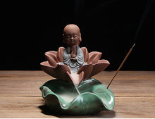 Load image into Gallery viewer, Lotus Backflow Incense Burner
