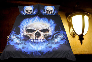 Flame Skull Bedding Set