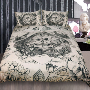 Sugar Love Skull Bedding Set