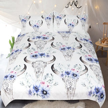 Load image into Gallery viewer, Tribal Skull Bedding Set