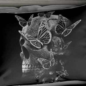 Butterfly Skull Bedding Set