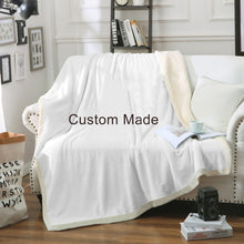 Load image into Gallery viewer, Custom Made Design your own Velvet Plush Throw Blanket