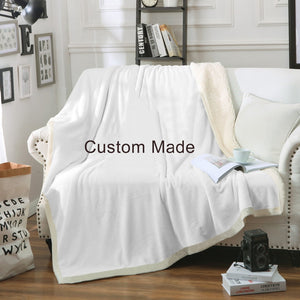 Custom Made Design your own Velvet Plush Throw Blanket