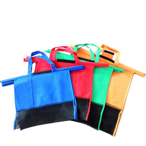 4 pcs Set Shopping Trolley Reusable Bags - Without cooler Bag