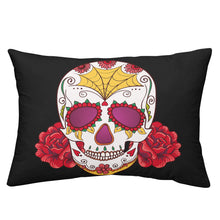 Load image into Gallery viewer, Skull Red Flowers Bedding Set