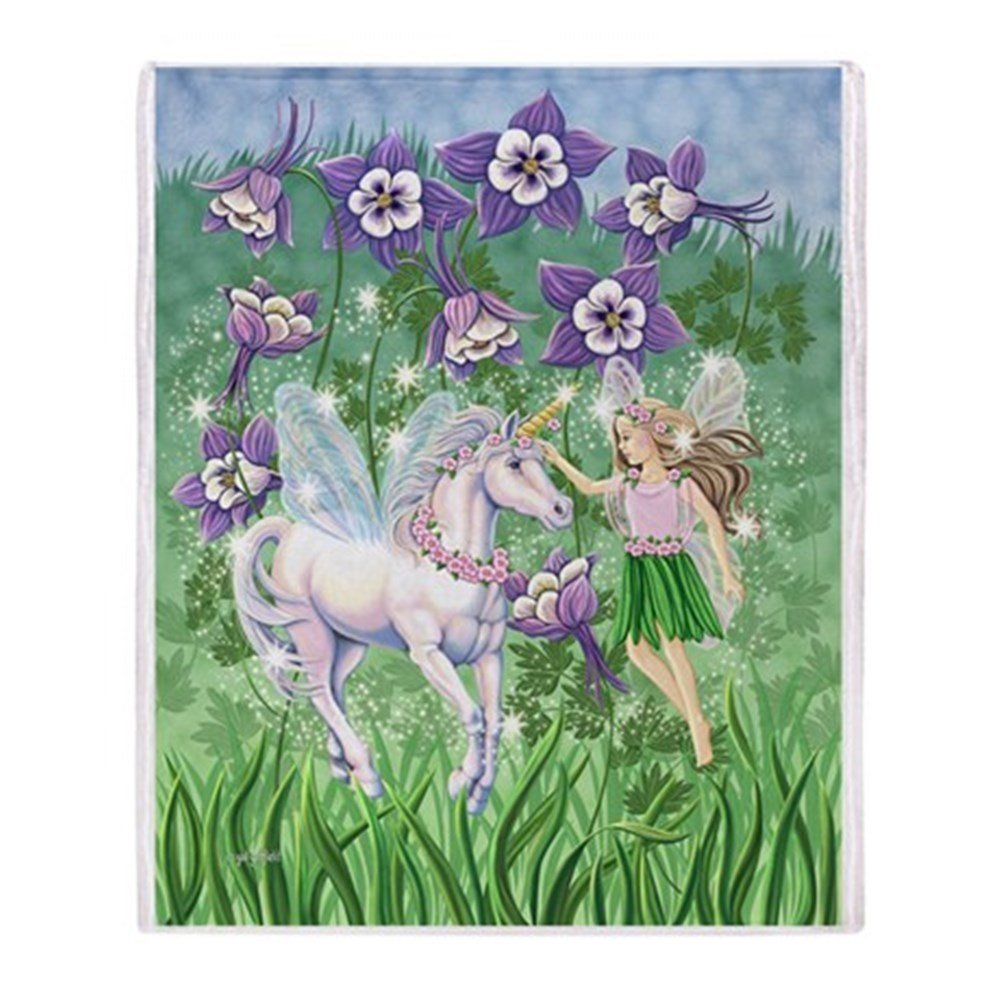 Fairy Unicorn Throw Blanket