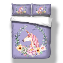 Load image into Gallery viewer, Colour Sleepy Unicorn Bedding Set