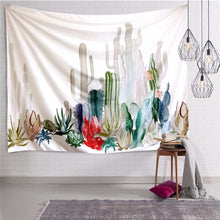 Load image into Gallery viewer, Boho Green Plants Cactus Tapestry
