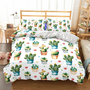 Mini Cactus Duvet Cover Set