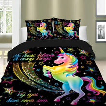 Load image into Gallery viewer, Rainbow Unicorn Bedding Set
