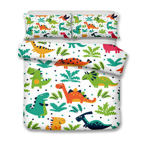 Cartoon Dinosaur Bed Set