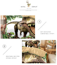 Load image into Gallery viewer, Jurassic Park Dinosaur Bed Set