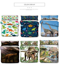 Load image into Gallery viewer, Cartoon Dinosaur Bed Set
