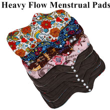 Load image into Gallery viewer, 5 Pcs Organic Bamboo Menstrual Pads Set - Heavy Flow + Mini Bag