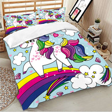 Load image into Gallery viewer, Happy Self Unicorn Bedding Set