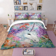 Load image into Gallery viewer, Paint Unicorn Bedding Set