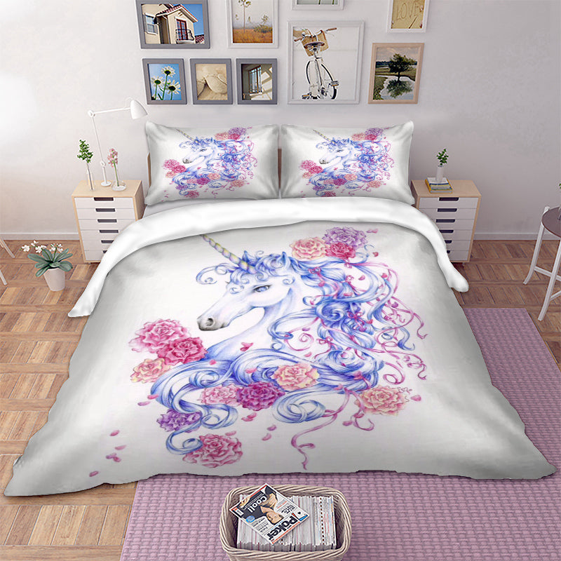 Romantic Unicorn Bedding Set