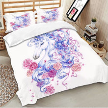 Load image into Gallery viewer, Romantic Unicorn Bedding Set