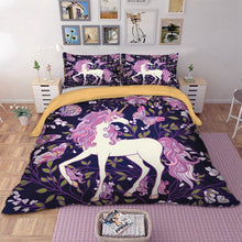 Load image into Gallery viewer, Purple Unicorn Bedding Set