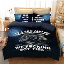Load image into Gallery viewer, It's you and Me Skull Bedding Set