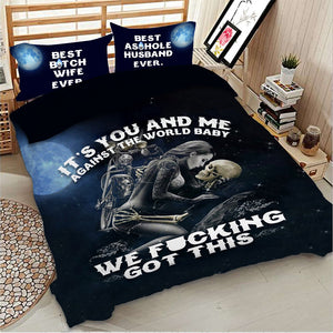 It's you and Me Skull Bedding Set