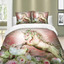 Load image into Gallery viewer, Roses Unicorn Bedding set