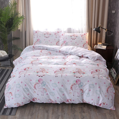 Unicorn Star Baloon Bedding set