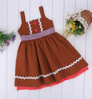 Christmas Girl Gingerbread Dress
