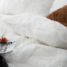 Load image into Gallery viewer, Newcastle Stock - Fluffy Velvet Fleece Quilt Cover and pillowcases - White
