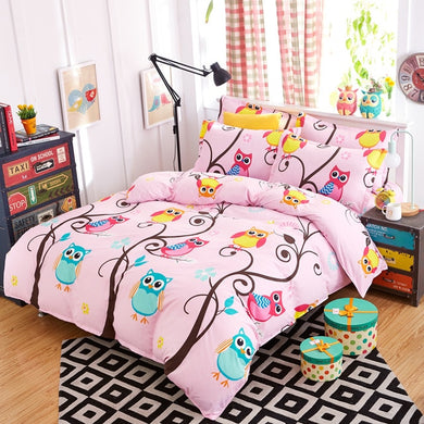 Kids Owl Bed Set