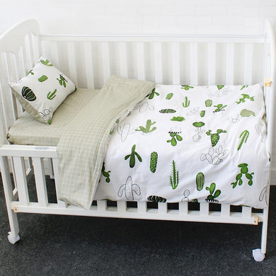 Little Cactus 3Pcs Baby Bedding Set - 100% cotton