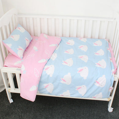 Bunny 3Pcs Baby Bedding Set - 100% cotton