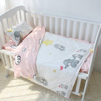 Little Elephant 3Pcs Baby Bedding Set - 100% cotton