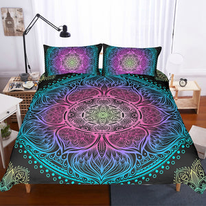 Indian Mandala Magic Quilt Cover Set