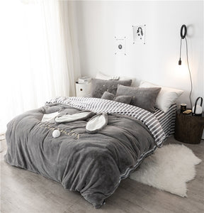 Bunny Winter Thick Bedding Set
