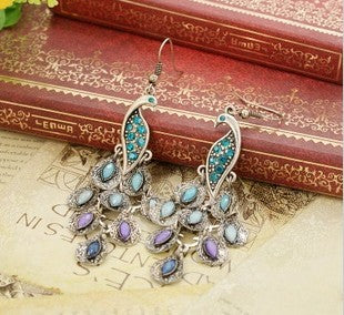 Peacock Drop Earring