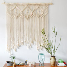 Load image into Gallery viewer, Beige Macrame Wall Hanging