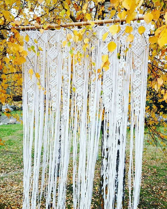 Macrame Tapestry Curtain Backdrop
