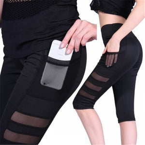 Mesh Leggings with pocket