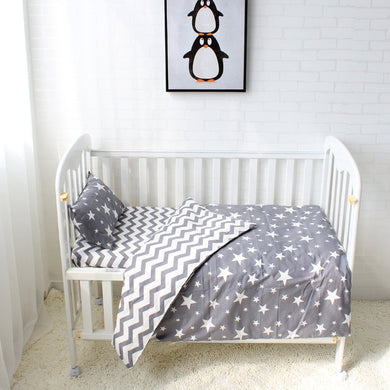 Stars 3Pcs Baby Bedding Set - 100% cotton