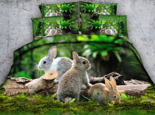 Load image into Gallery viewer, Bunny Digital Print Bed Set
