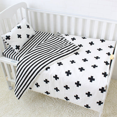 Pluses 3Pcs Baby Bedding Set - 100% cotton