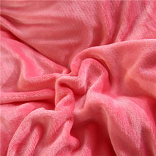 Load image into Gallery viewer, Flannel Velvet Faux Lambswool Bedding Set - Rose Pink